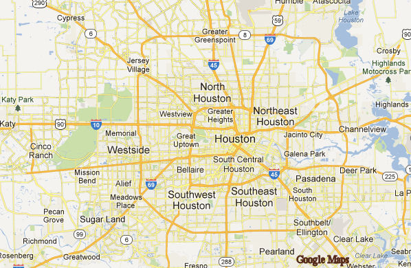 MAP OF HOUSTON | Dictionary Bank