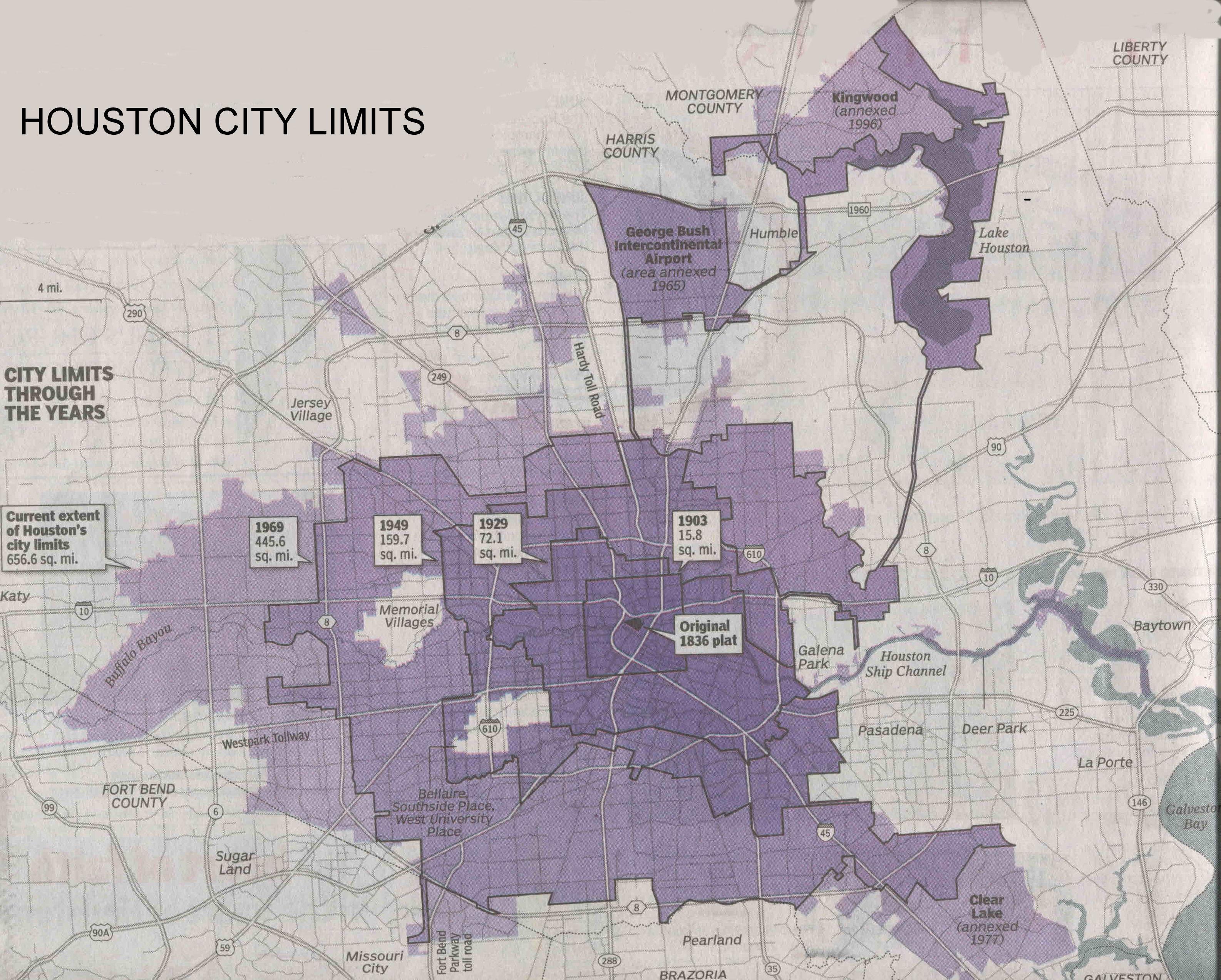Houston Annexation Thru The Years | Real Estate Agent Houston