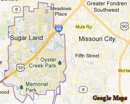 Map Of Sugar Land Texas Business Ideas 2013