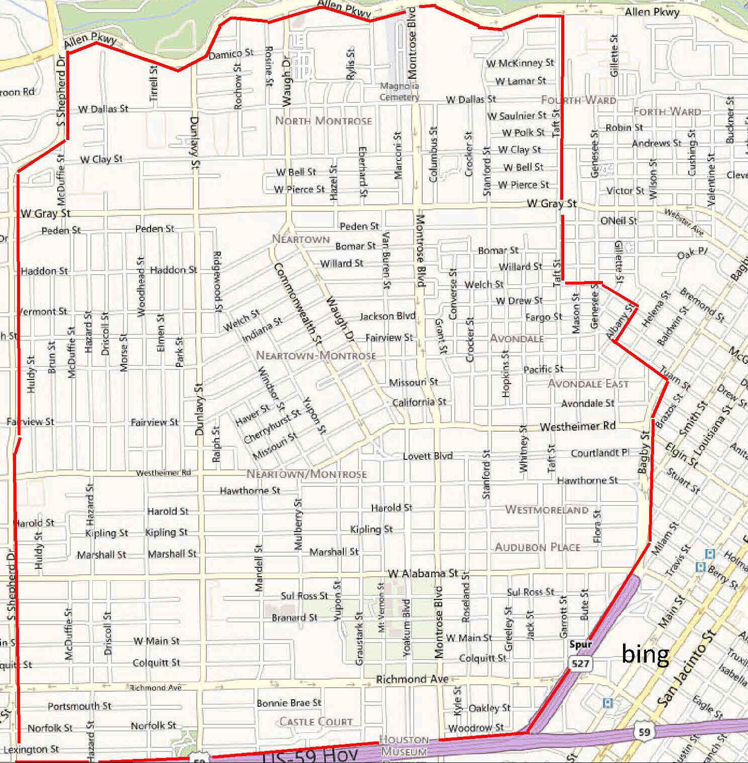 """Houston Apartments Map: A True """"Bohemian"""" Area In Inner"""
