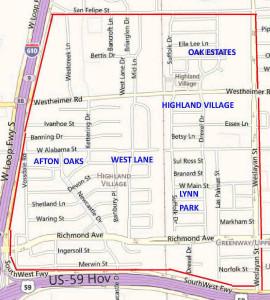 Highland Village Area Map
